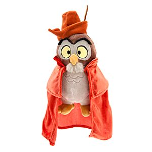 Owl Plush - Small - 10 1/2 - Sleeping Beauty