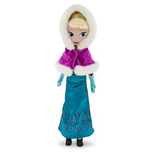 Elsa Plush Doll - Frozen - Holiday - Medium - 21
