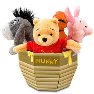Mini Bean Bag Winnie the Pooh Plush Toy Honey Pot Package -- 9H -- 4-Pc.