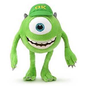 Mike Wazowski Plush - Monsters University - Mini Bean Bag - 9