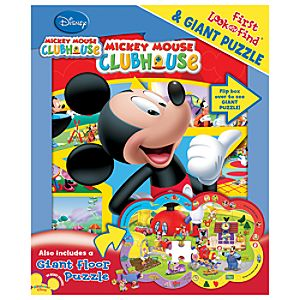 Mickey Mouse Clubhouse First Look and Find Board Book and Giant Puzzle Set -- 2-Pc.