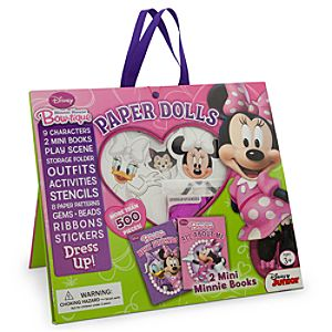 Minnie Mouse Bow-tique Paper Dolls Set