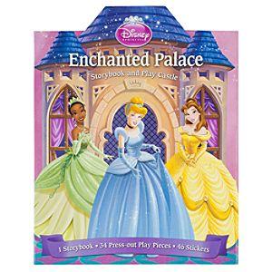 Disney Princess Enchanted Palace Storybook and Play Castle Boxed Set