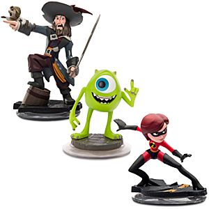 Disney Infinity Sidekicks Figure Set - Mike Wazowski, Mrs. Incredible and Captain Barbossa - Pre-Order
