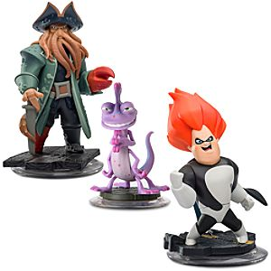 Disney Infinity Villains Figure Set - Davy Jones, Randall and Syndrome - Pre-Order