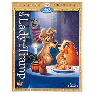 3-Disc Diamond Edition Lady and the Tramp Blu-ray and DVD + Disney File Combo Pack