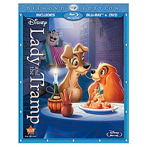 2-Disc Diamond Edition Lady and the Tramp Blu-ray and DVD Combo Pack