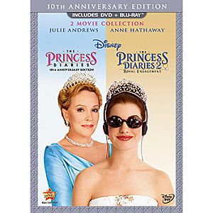 3-Disc The Princess Diaries 10th Anniversary 2-Movie Blu-ray and DVD Collection