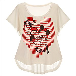 End Title Minnie and Mickey Mouse Tee for Women