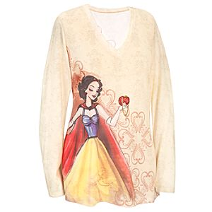 Long Sleeve Disney Princess Designer Snow White Tee for Women