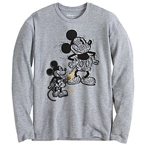 Long Sleeve Thermal Mickey Tee for Men