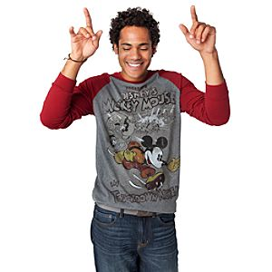 Long Sleeve Touchdown Mickey Mickey Mouse Tee for Men