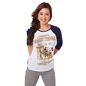 Long Sleeve The Wayward Canary Minnie and Mickey Mouse Tee for Women