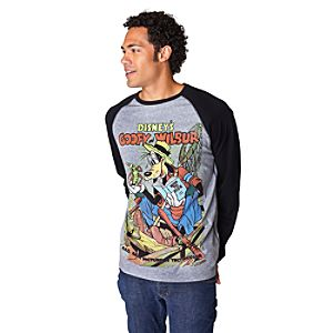 Long Sleeve Raglan Goofy and Wilbur Goofy Tee for Men