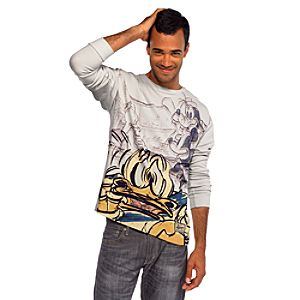 Long Sleeve Vintage Disney Mickey Mouse, Donald Duck, and Goofy Thermal Tee for Men