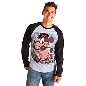 Mickey Mouse Raglan Tee for Men - Artist Series One