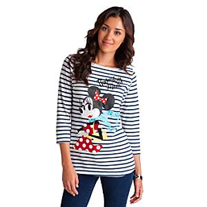 Mademoiselle Minnie Striped Tee for Women