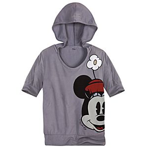 Hooded Fashion Minnie Mouse Tee for Women