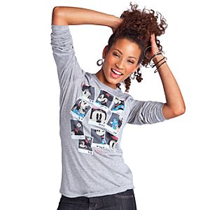 Long Sleeve Nostalgic Minnie Mouse Tee for Women