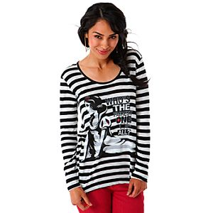 Long Sleeve Burnout Snow White Tee for Women