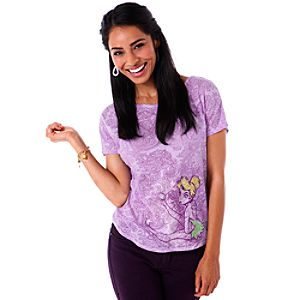 Burnout Paisley Tinker Bell Tee for Women