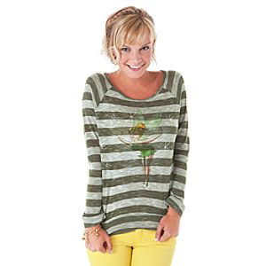 Long Sleeve Burnout The Art of Tinker Bell Tee for Women