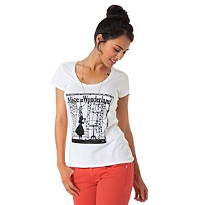 Silhouette Alice in Wonderland Tee for Women