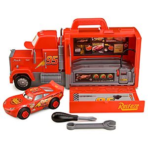 Pitstop Lightning McQueen Disney Cars Play Set