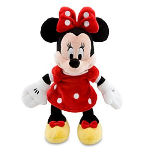 Mini Bean Bag Red Dress Minnie Mouse Plush Toy -- 9 1/4 H
