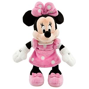 Mini Bean Bag Pink Dress Minnie Mouse Plush Toy -- 9 1/4 H
