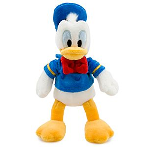 Mini Bean Bag Donald Duck Plush Toy -- 9 1/2 H