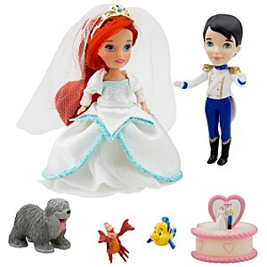 Once Upon a Wedding Disney Princess Darlings Doll Set - Ariel and Prince Eric