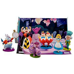 Alice in Wonderland Figure Play Set -- 6-Pc.