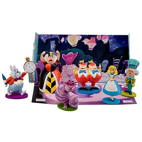 Alice in Wonderland Figure Play Set -- 6-Pc.