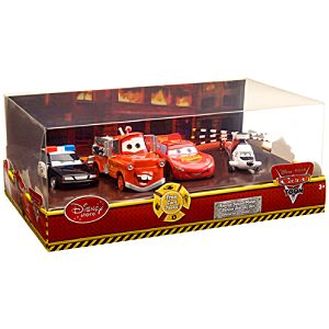 Disney Cars Toon ''Rescue Squad Mater'' Deluxe Die Cast Vehicle Set -- 4-Pack
