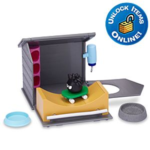 Club Penguin Black Puffle House with Skateboard Ramp Play Set -- 7-Pc.