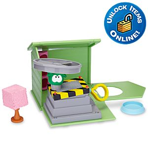 Club Penguin Green Puffle House with Propeller Launcher Play Set -- 6-Pc.