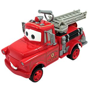 Disney Cars Toon Rescue Squad Mater Fire Truck Push Along Car