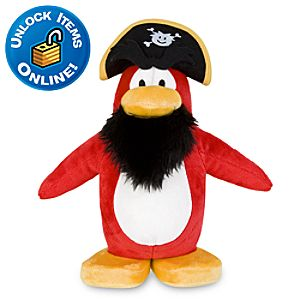 Club Penguin Captain Rockhopper Penguin Plush Toy -- 9 H