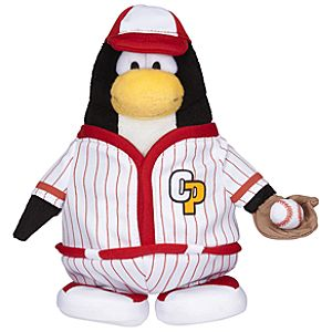 Club Penguin 6 1/2 Limited Edition Penguin Plush - Red Baseball Player