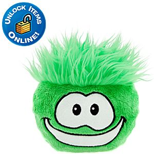 Club Penguin Green Pet Puffle -- 6 H