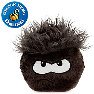 Club Penguin Black Pet Puffle -- 6 H