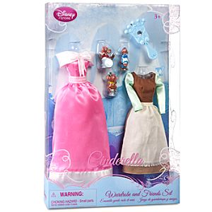 Princess Cinderella Doll Wardrobe and Friends Set -- 6-Pc.