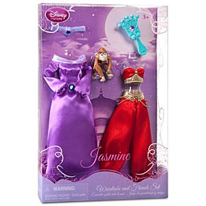 Princess Jasmine Doll Wardrobe and Friends Set -- 5-Pc.