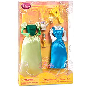 Princess Belle Doll Wardrobe and Friends Set -- 6-Pc.