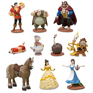 Deluxe Beauty and the Beast Figurine Set -- 10-Pc.