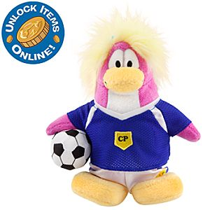 Club Penguin 6 1/2 Limited Edition Penguin Plush - Soccer Girl