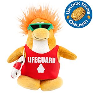 Club Penguin 6 1/2 Limited Edition Penguin Plush - Lifeguard (Semi-Rare Chase)