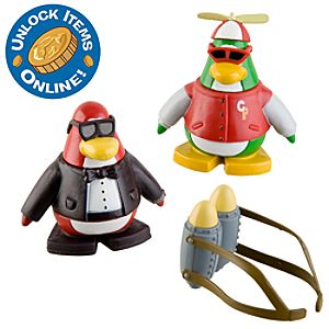 Club Penguin 2 Mix N Match Figure Pack -- Secret Agent and Rookie