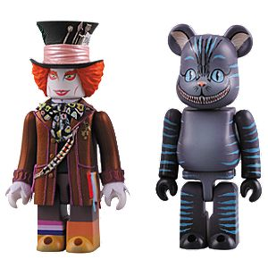 Alice In Wonderland: Mad Hatter Kubrick and Cheshire Cat Bearbrick Figure Set by Medicom